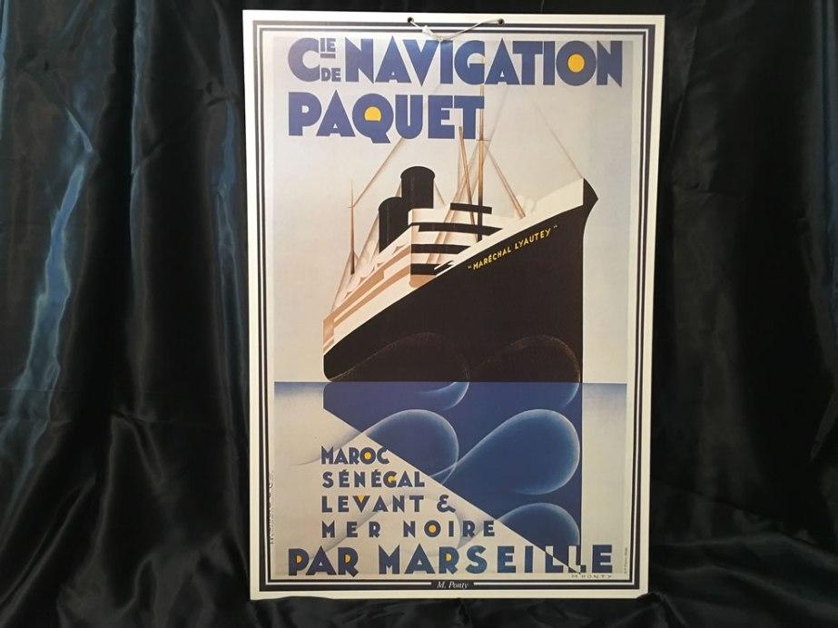 Reclamebord boot Compagnie de navigation Paquet