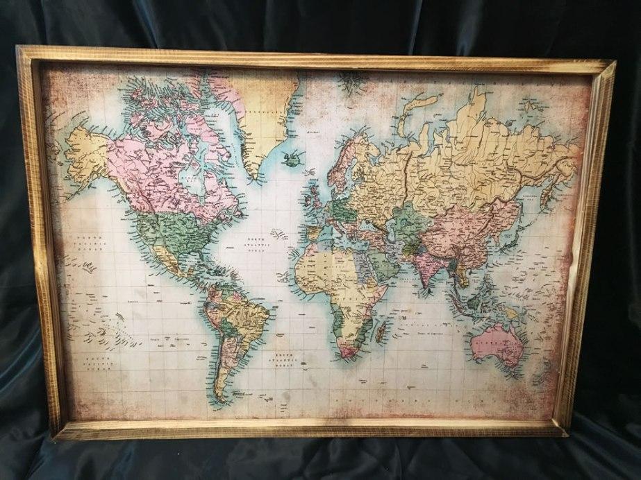 Wandkaart wereld